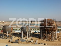 Construction of Three Spherical Tanks In Ebn-e-Sina Petrochemical Plants - IPS Company