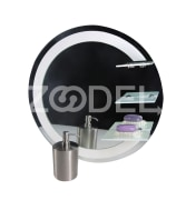 Bathroom Mirror - Round, Various Colors, Without Lamp - 60 Cm - Model : Saba 2 - Yaghut Jam Pars Company