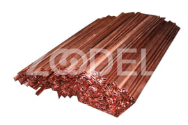 Cathode rods made of copper for electrolysis of cathode copper