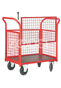 Closed Wire Cage Cart With One Openable Side SE 3510