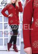 Women Jacket - Knitted, Buttoned, With Stone Embroidery, Code 305 - Ghoghnus Company