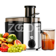 Aicok Juice Extractor High Speed for Fruit and Vegetables Dual Speed Settings Powerful 400 Watt with Juice Jug and Cleaning Brush, Premium Food Grade Stainless Steel