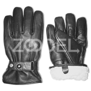 Winter Sheep Pieces Leather Gloves