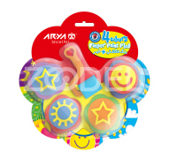 Finger Paint + Stamps And Roller - 4 Colors - Arya Company - 7030