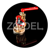 Drain valve for boiler and pressurized tanks under the pressure of two-sided flange, 1 inch steel-manufactured radar