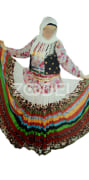 The dress of the skirt is completely traditional embroidery of Gilan