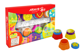 Fingerpaint With Stamp And Roller - 8 Colors - Arya Company - 7030