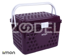 Picnic Basket - Plastic - Rectangular - With Lid - Limon Brand - Aisan Design - Model 020
