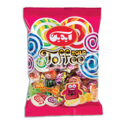 Sour Toffee - Double Color With Fruity Flavor - 1000 g Package - Aidin Brand