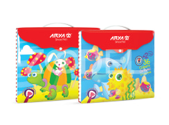 Oil Pastel - 36+2 Colors - Button Folder - Arya Company - 2042