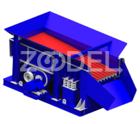 Twin shaft grizzly feeder