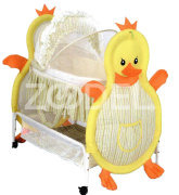 Baby Bed & Cradle - With Tetron & Taffeta Cover - Washable, With Fixing Locks - Size 85*100*55 Cm - Model : Chicken - Kousha Trading Company