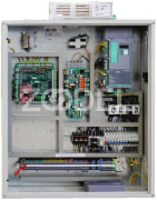 Elevator Control Panel - With Drive Board, Transmission Motor & Emergency Rescue System - Model : GE-G16 Jefran - Arian Asansor Company