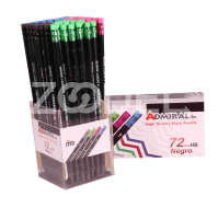Black Writin Pencil HB - With Eraser Negro Model : 909B-E - 72 Pcs Package