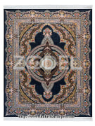 "Carpet - Machine Made - Acrylic - Design Name : Kereshmeh - Navy Blue Background - Transverse Density 1200 - Brand ""Shahrokh"""
