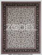"Carpet - Machine Made - Acrylic - Design Name : Afshan - Cream Background - Transverse Density 1200 - Brand ""Shahrokh"""