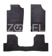 "Floor Mat Set For Cars - Rubber - High Flexibility And Abrasion Resistance - Brand ""Poolasa"""