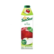 One hundred percent natural red apples juice packed in 1000 cc