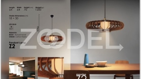 Masina wooden pendant lamp z2 model