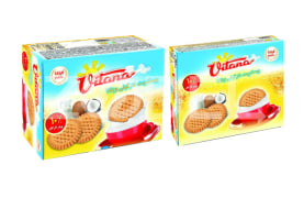 Biscuit With Coconut Flavor - 590 & 1180 Gr Packs - Vitana Company