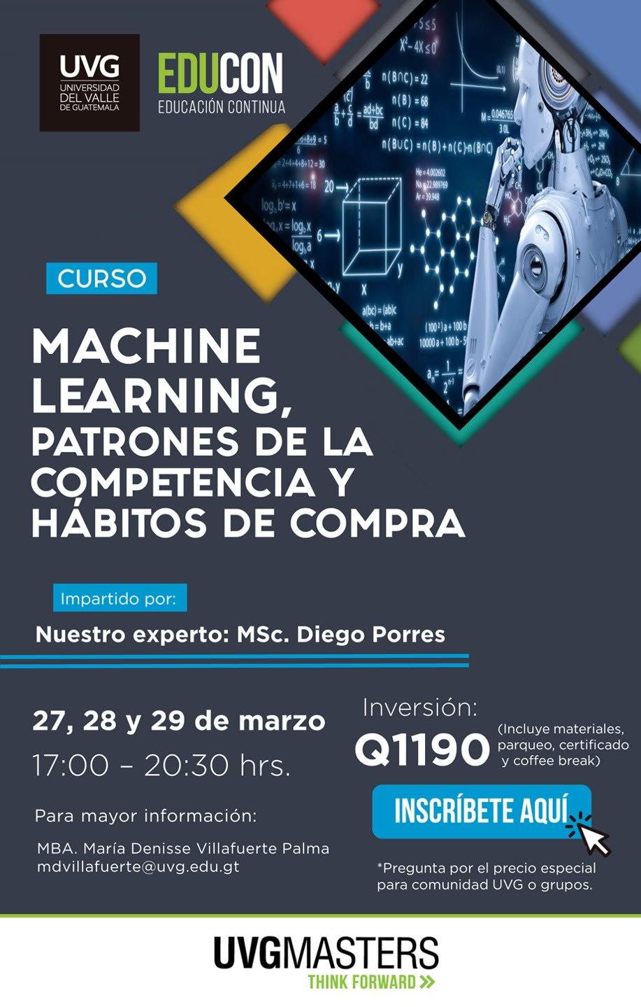 CURSO: MACHINE LEARNING, PATRONES DE LA COMPETENCIA Y HÁBITOS DE COMPRA
