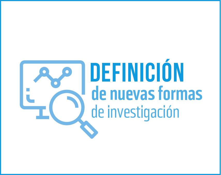 Banner sobre definición de nuevas formas de investigación