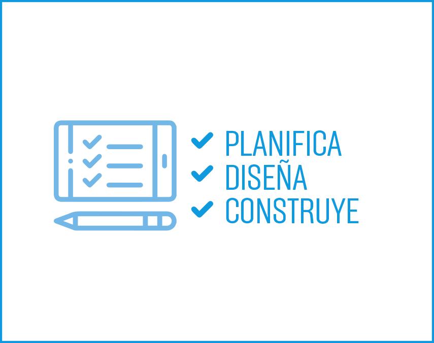 Banner sobre planificación, diseño y construcción