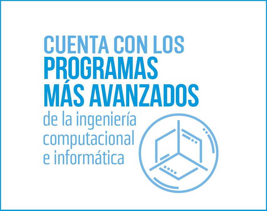 Banner sobre programas avanzados de ingeniería computacional