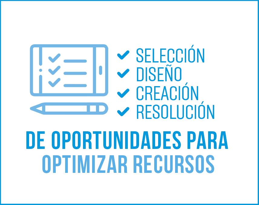 Banner sobre oportunidades para optimizar recursos