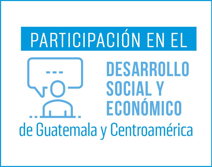 Banner sobre participación en el desarrollo social y económico