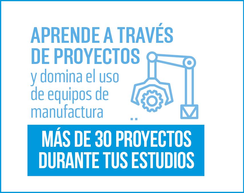 Banner sobre proyectos y equipos de manufactura