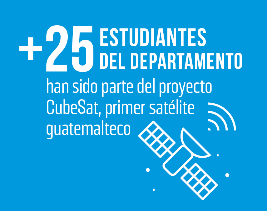 Banner sobre proyecto CubeSat y participación de estudiantes