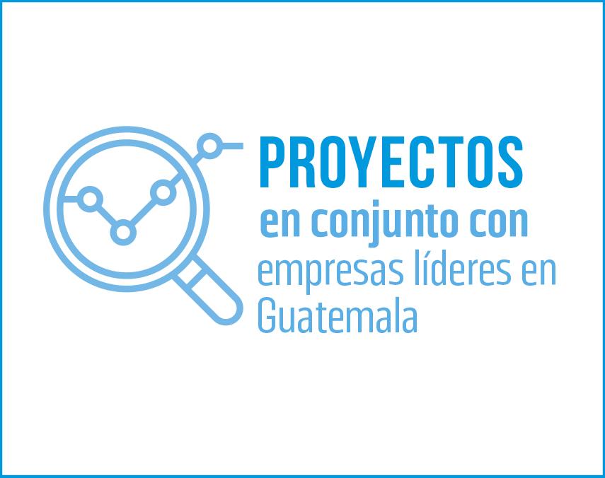 Banner sobre proyectos con empresas líderes en Guatemala