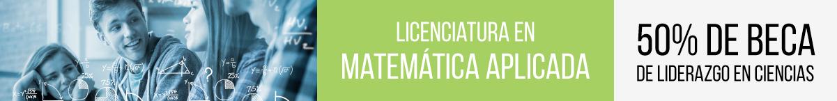 Banner de Matemática Aplicada UVG beca