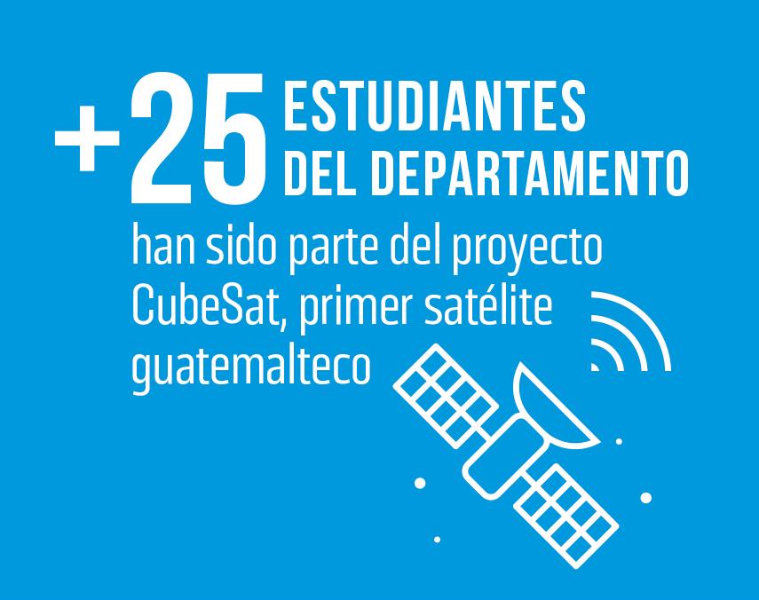 Banner sobre participación de estudiantes en proyecto CubeSat