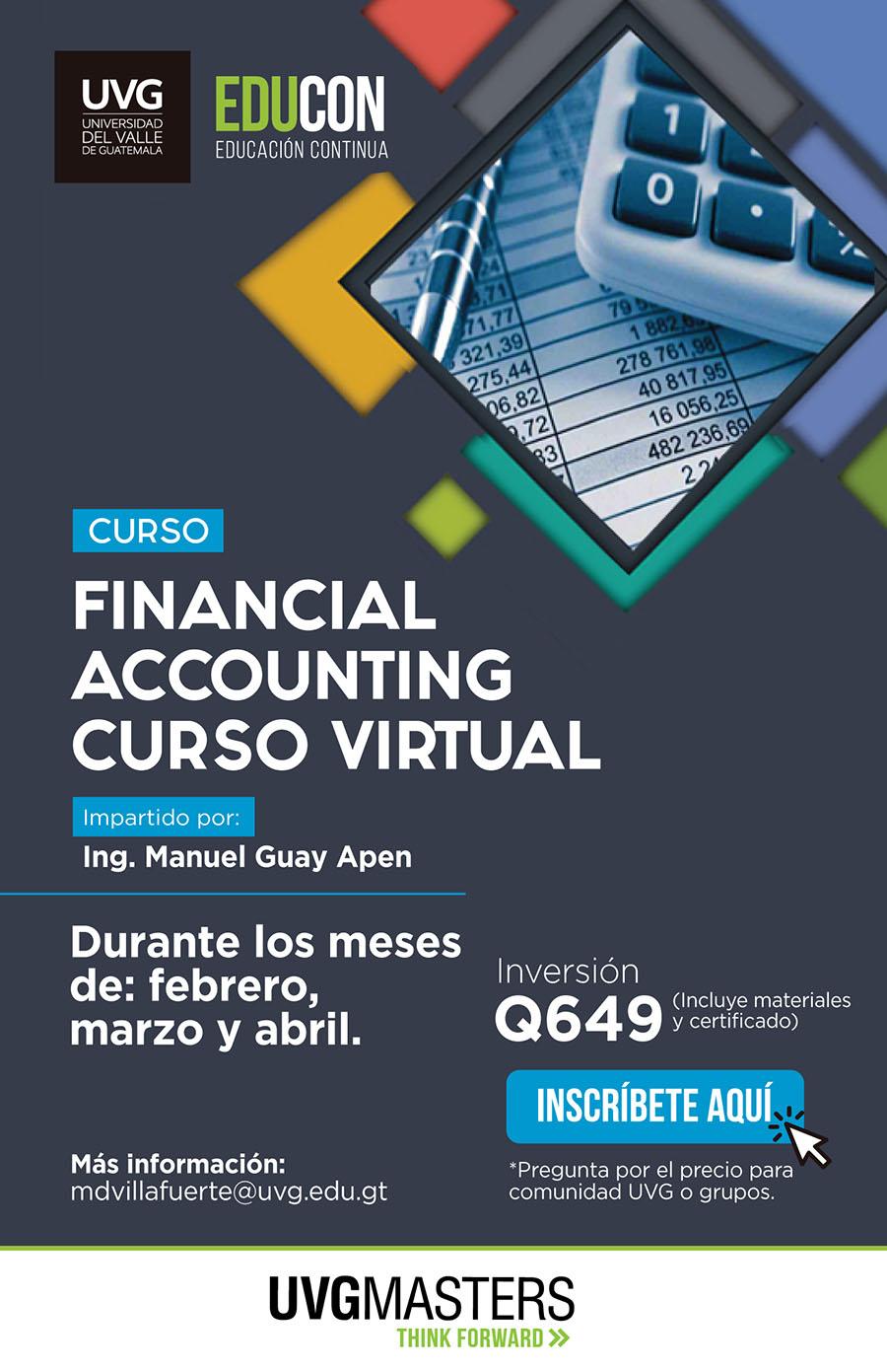 Financial Accounting, curso virtual