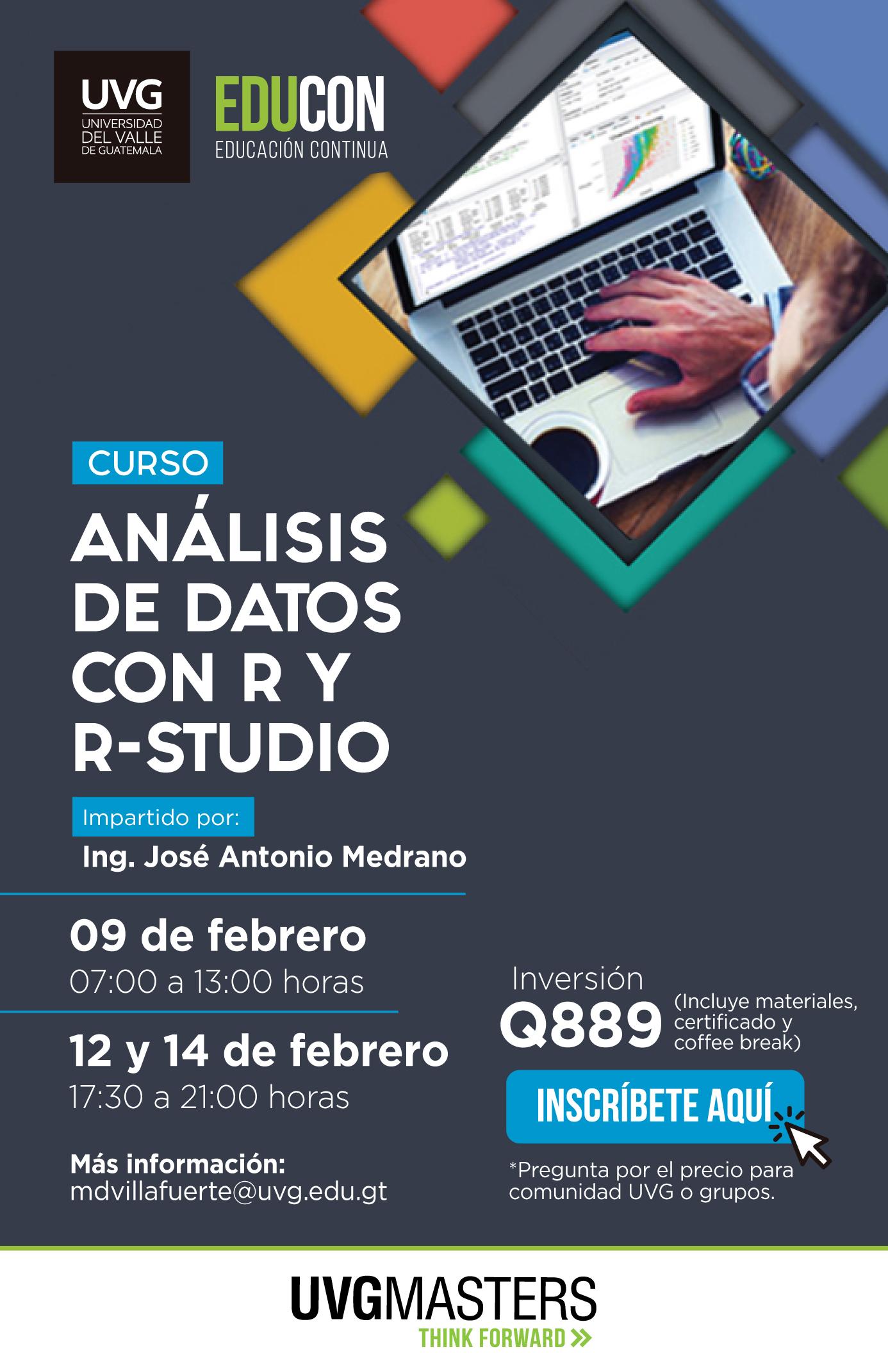 Análisis de datos con R y R-STUDIO