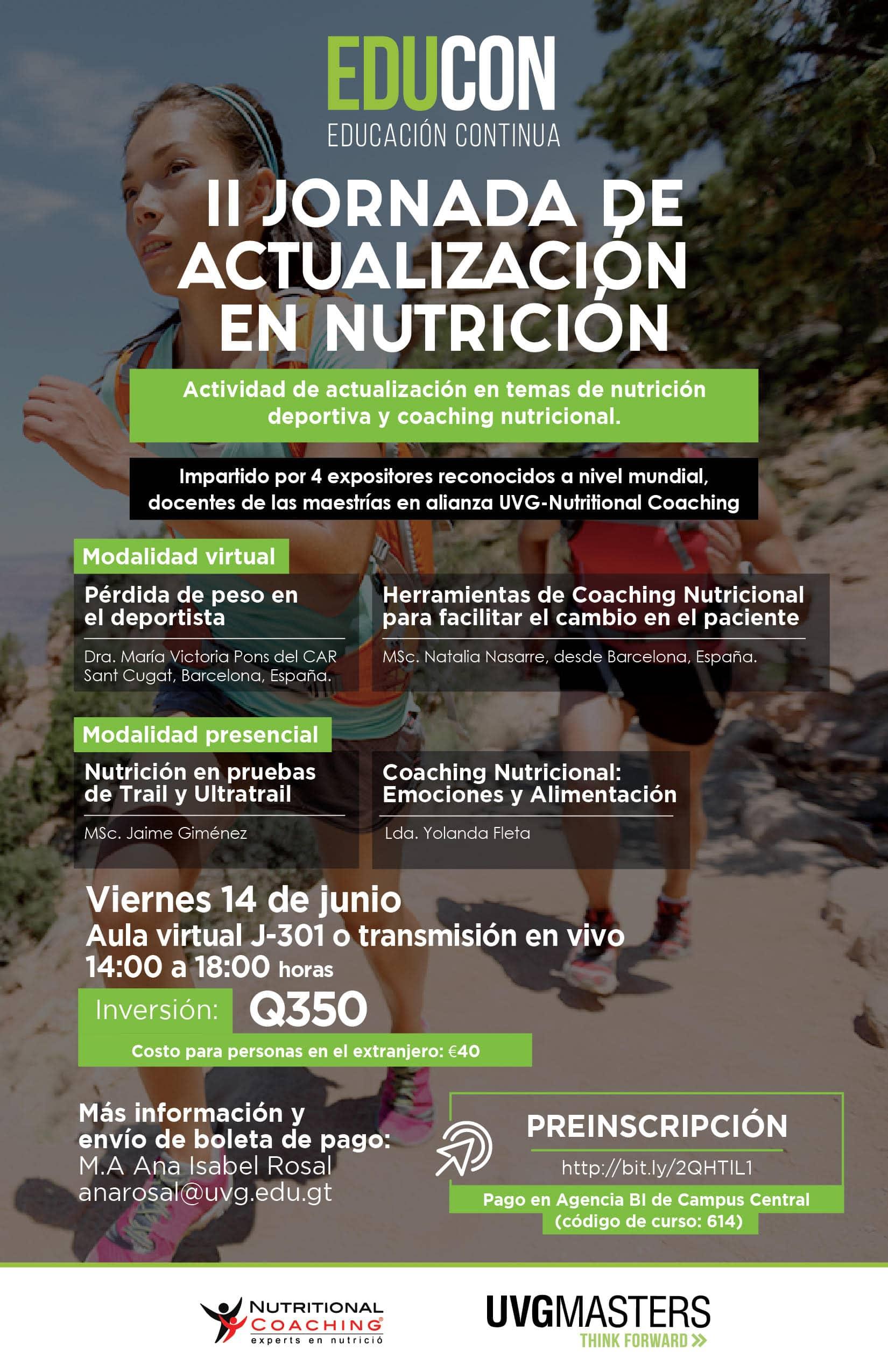 II JORNADA DE ACTUALIZACIÓN EN NUTRICIÓN
