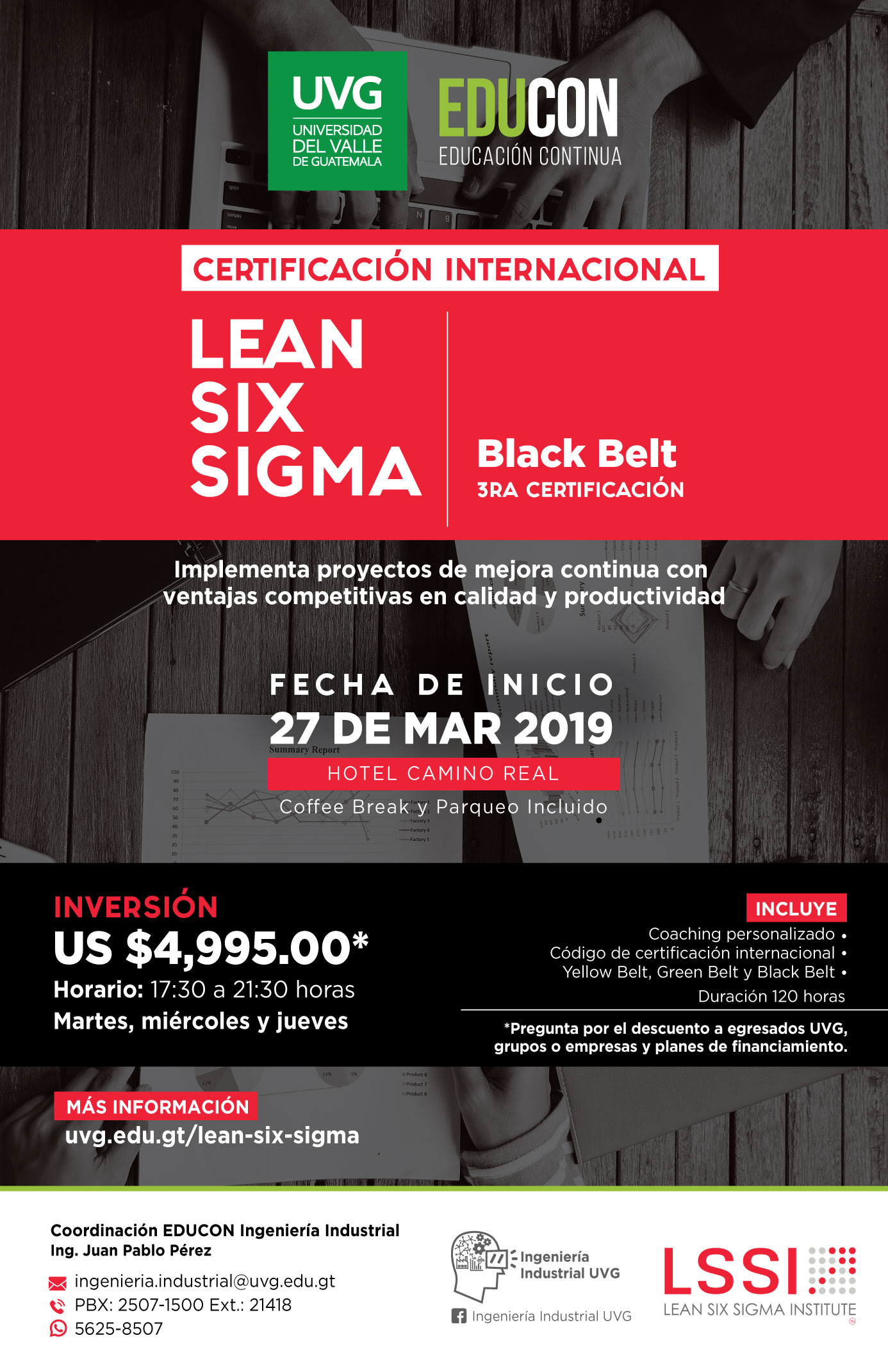 Certificación Internacional Lean Six Sigma(Black Belt)