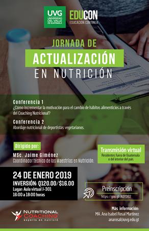 JORNADA DE ACTUALIZACIÓN EN NUTRICIÓN
