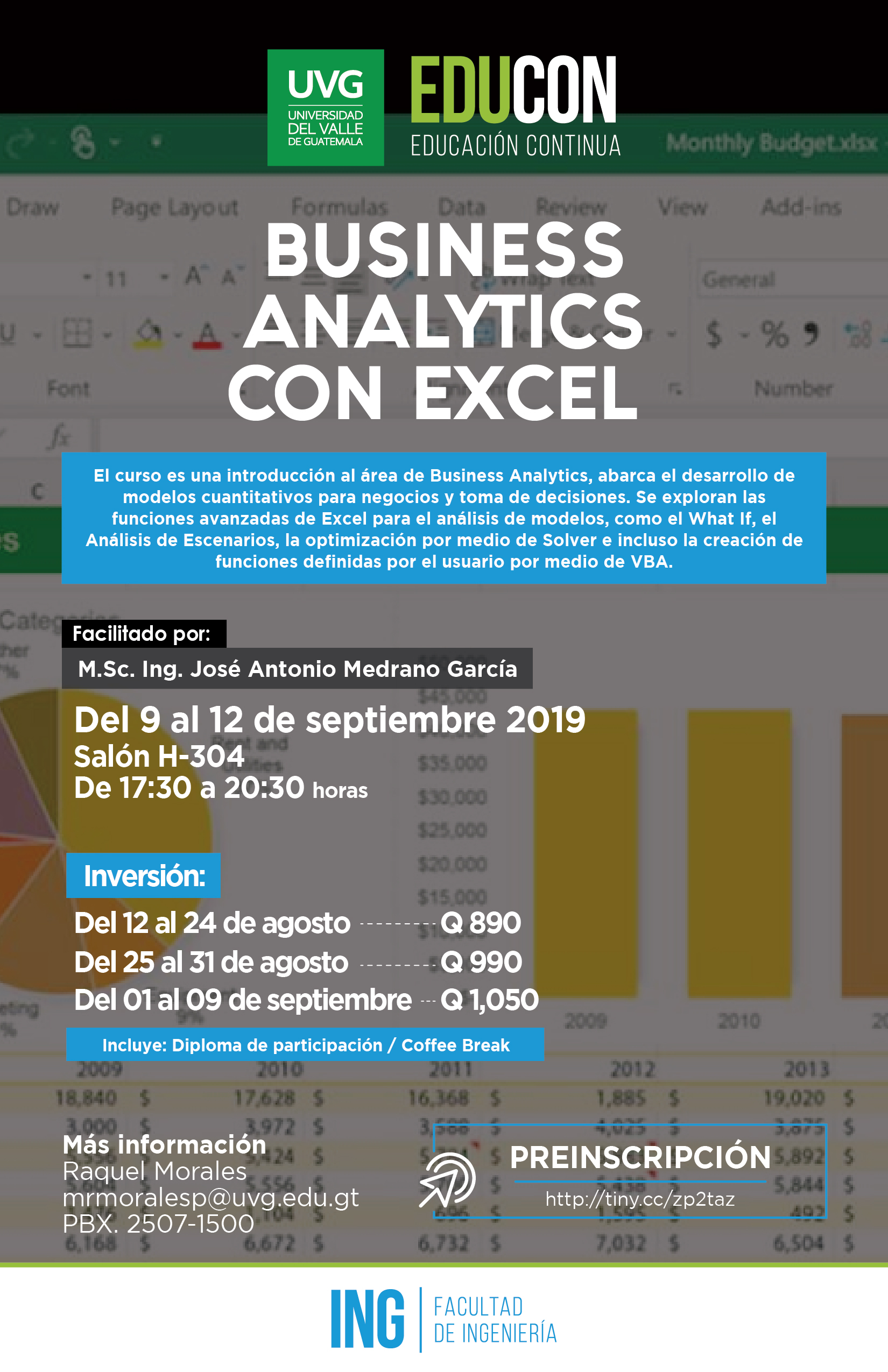 BUSINESS ANALYTICS CON EXCEL