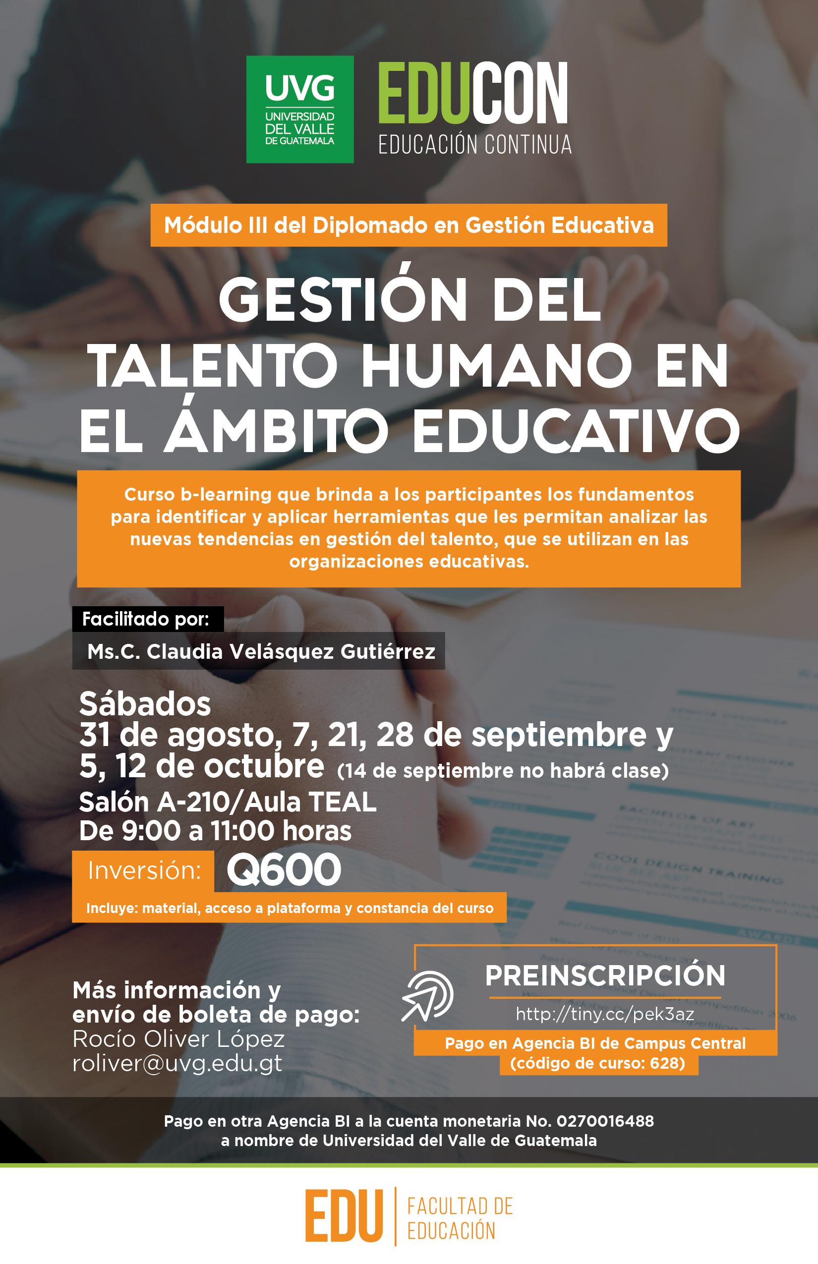 GESTIÓN DEL TALENTO HUMANO EN EL ÁMBITO EDUCATIVO