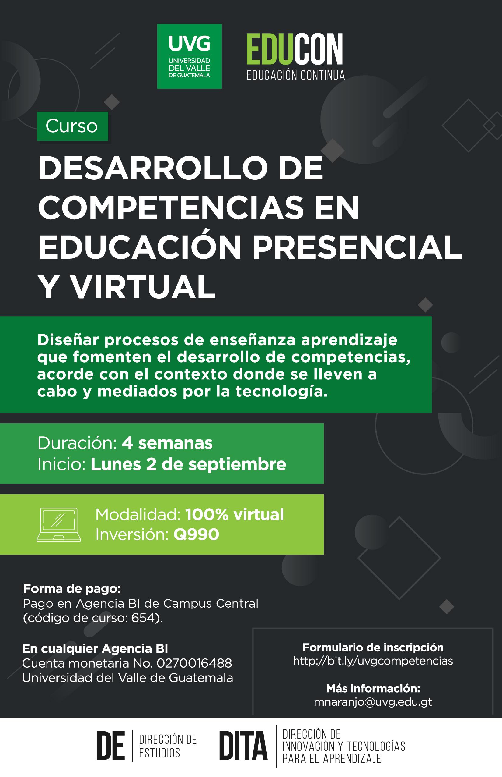 DESARROLLO DE COMPETENCIAS EN LA EDUCACIÓN PRESENCIAL Y VIRTUAL