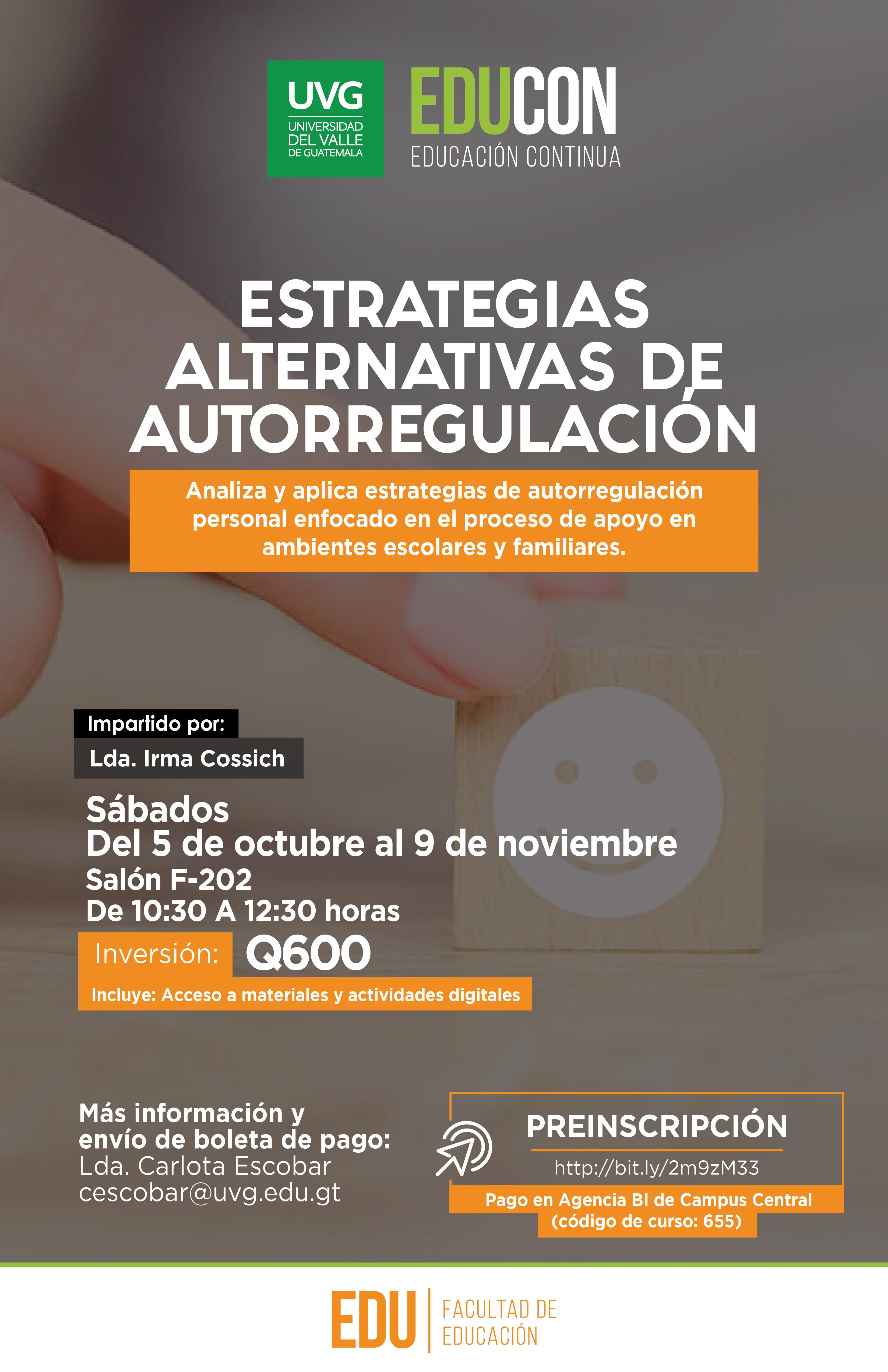ESTRATEGIAS ALTERNATIVAS DE AUTOREGULACIÓN