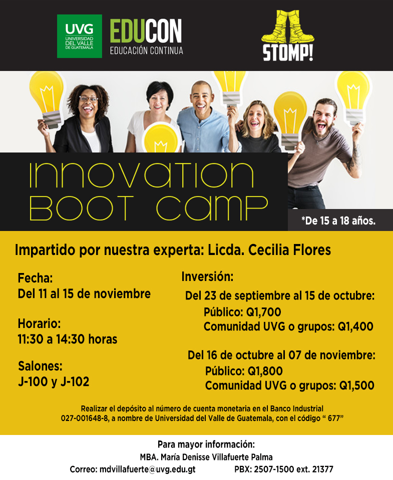 CURSO DE VACACIONES  STOMP! INNOVATION BOOT CAMP