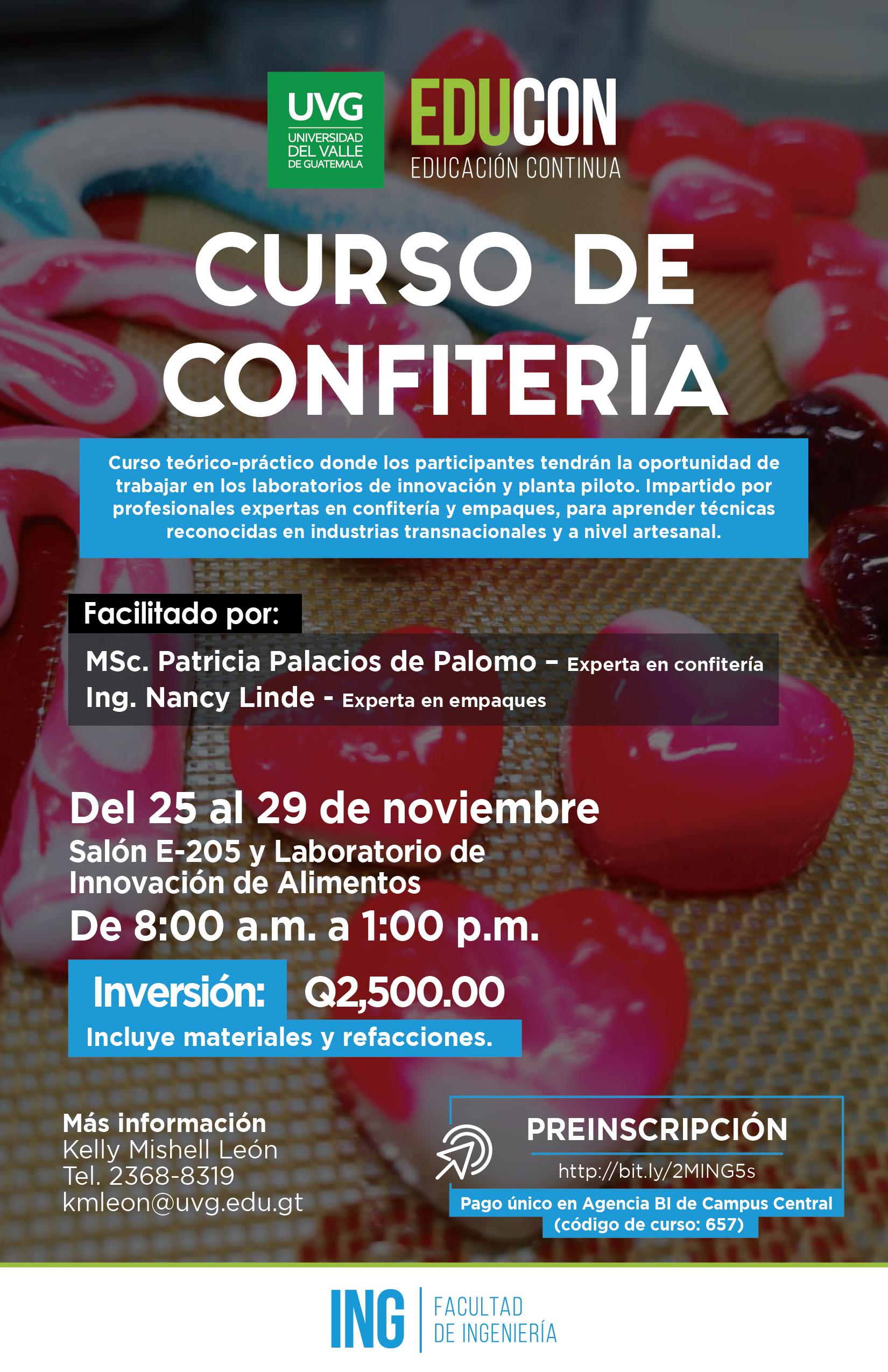 CURSO DE CONFITERÍA