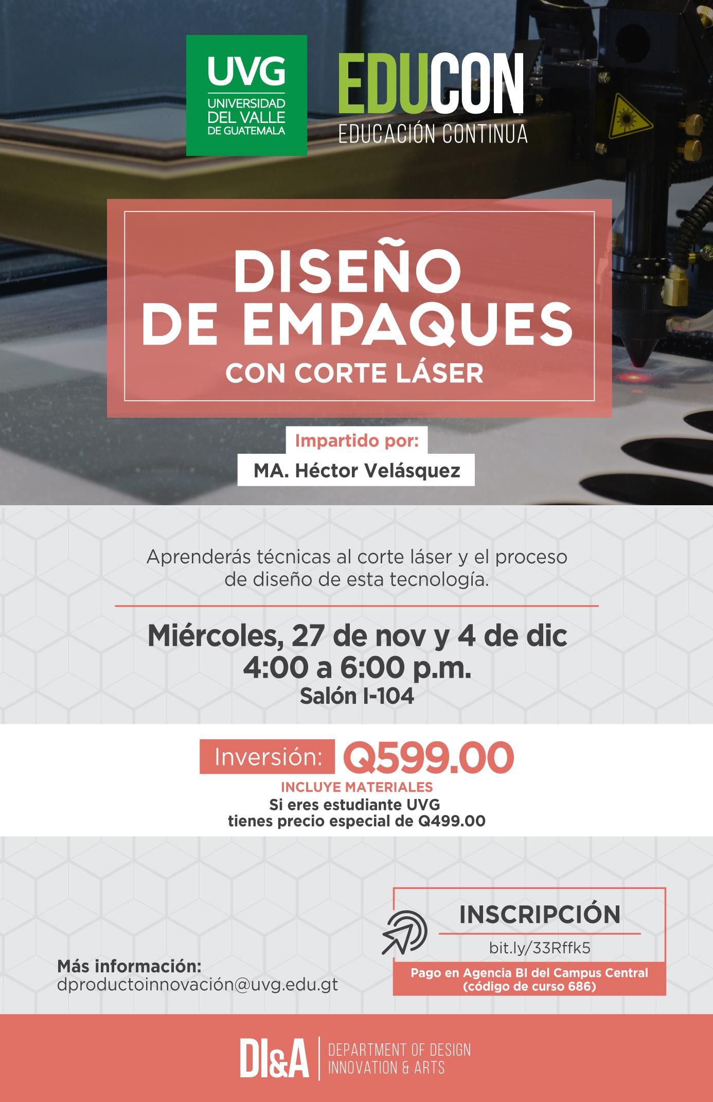 DISEÑO DE EMPAQUES CON CORTE LÁSER