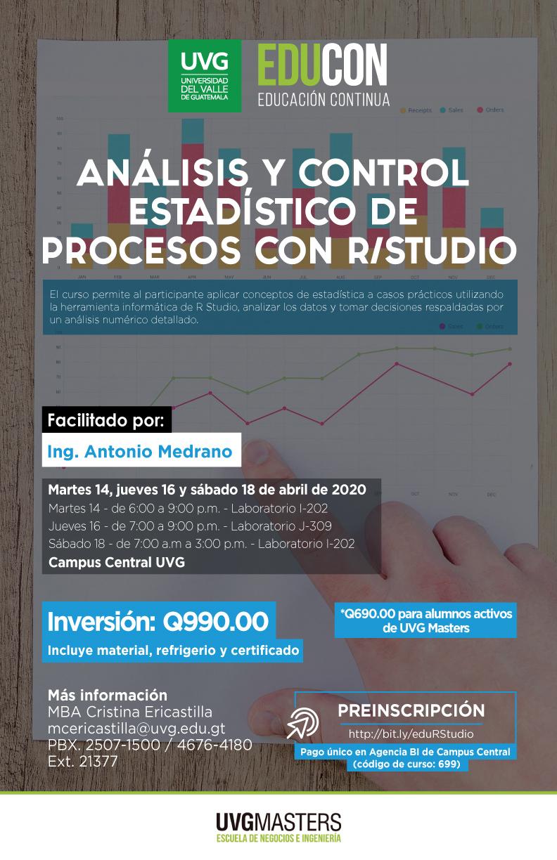 ANÁLISIS Y CONTROL ESTADÍSTICO DE PROCESOS CON R/Studio