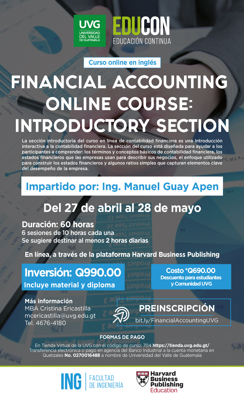 FINANCIAL ACCOUNTING ONLINE COURSE: INTRODUCTORY SECTION