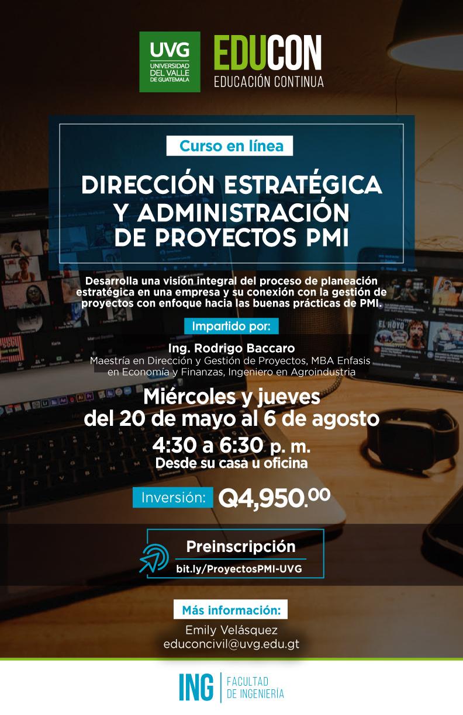 DIRECCIÓN ESTRATÉGICA Y ADMINISTRACIÓN DE PROYECTOS PMI